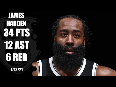 James Harden makes NBA history in second Nets game [HIGHLIGHTS] | NBA on ESPN