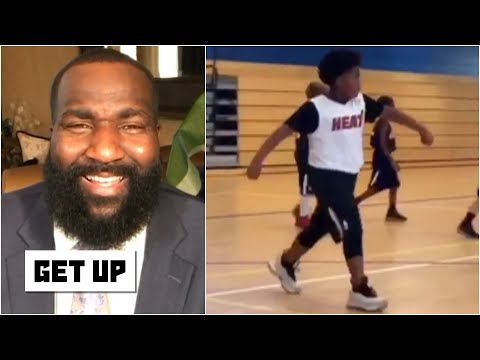 Get Up reacts to highlights of Kendrick Perkins' son on the basketball court