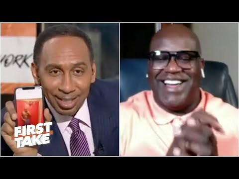 Stephen A. laughs off Shaq's 'proof' that he has a 6-pack | First Take