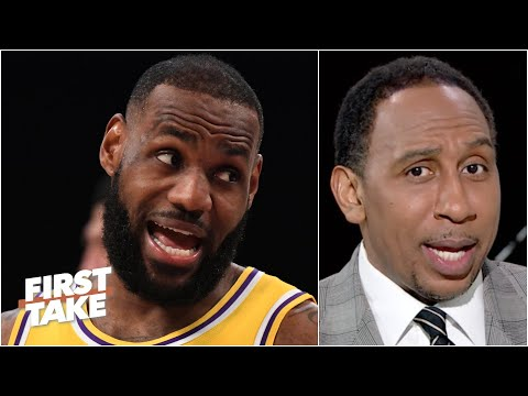 'Hell no, I'm not buying that!' – Stephen A. reacts to LeBron's postgame comments | First Take