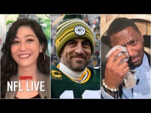 Ryan Clark left in tears when Mina Kimes agrees about Aaron Rodgers | NFL Live