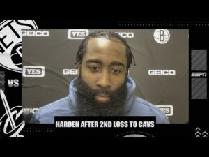James Harden reacts to 2nd straight loss for Nets vs. Cavs | NBA on ESPN