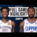 Oklahoma City Thunder vs. LA Clippers [FULL GAME HIGHLIGHTS] | NBA on ESPN