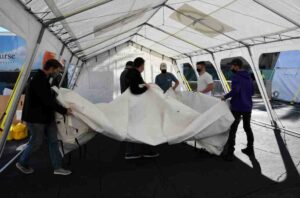 Emergency field hospital officially opens in Lancaster to help coronavirus patients