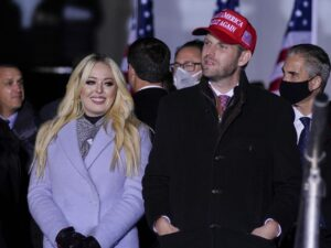 Tiffany Trump announces engagement on dad's final full day