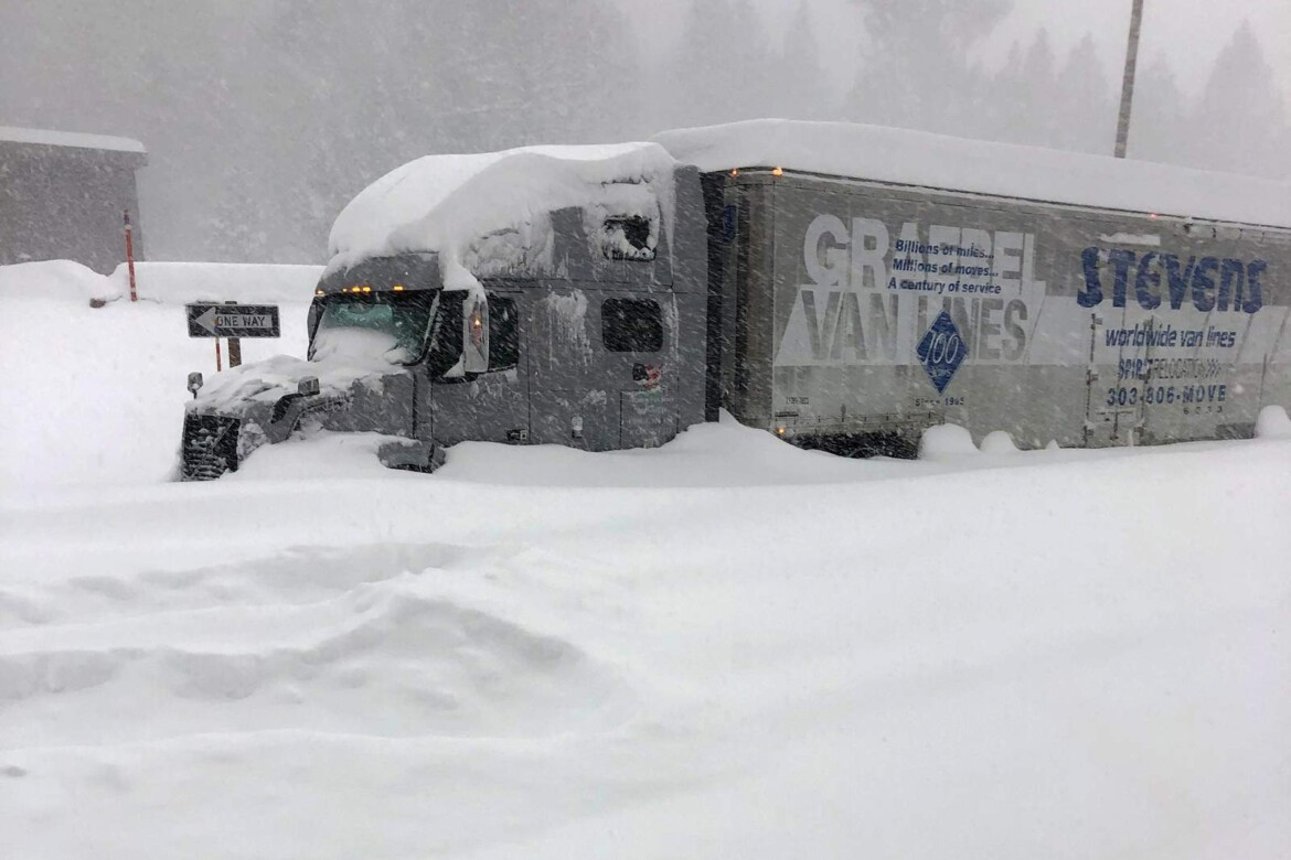 Atmospheric river storm drenches California, snow piles high