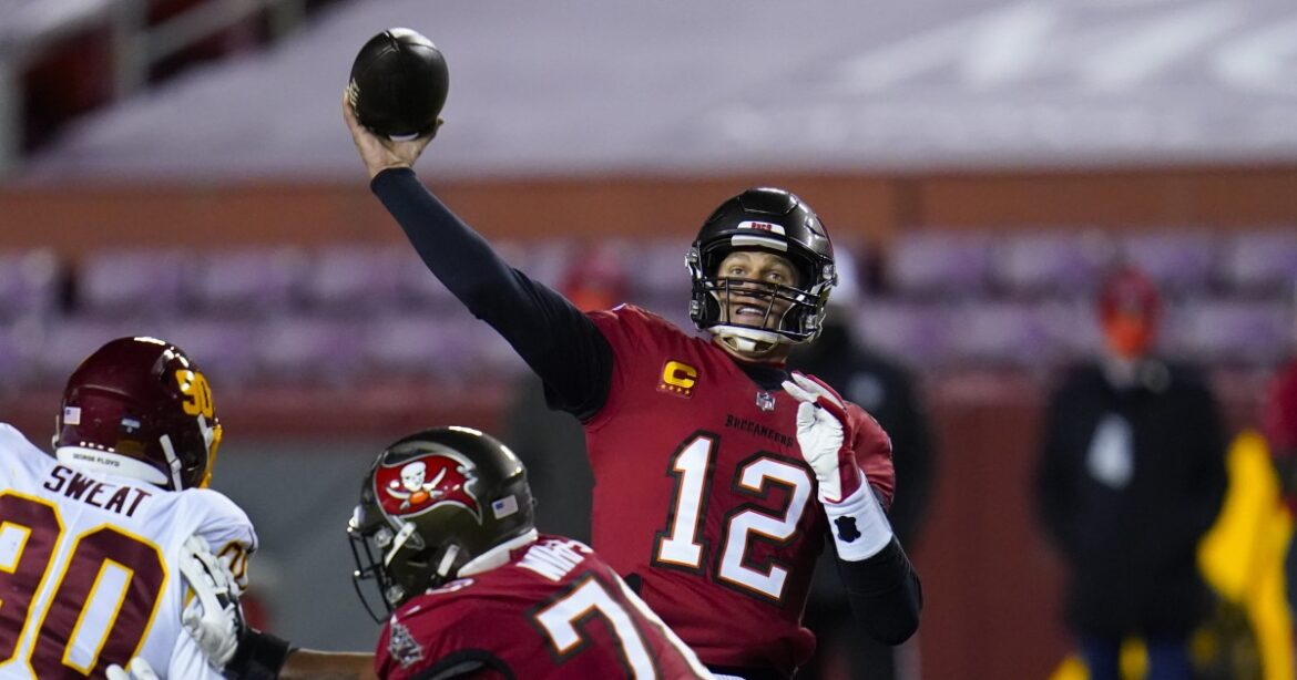 Tom Brady lifts Buccaneers to win over Washington in NFC wild-card playoff game