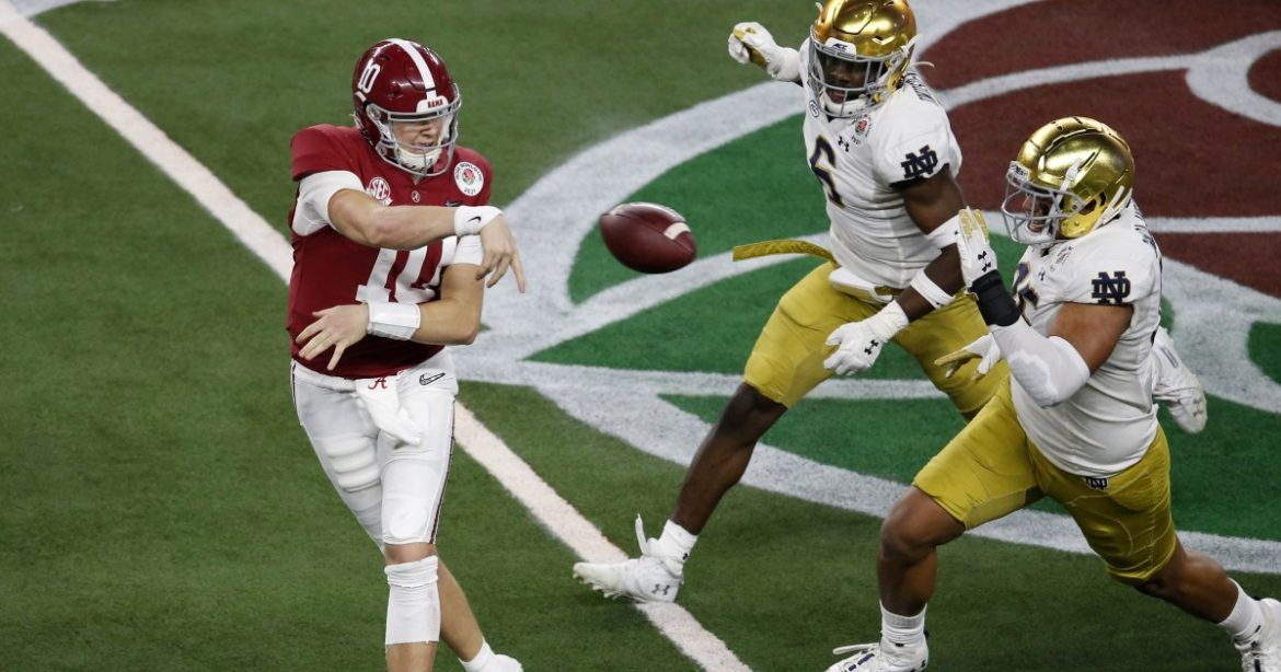 Top-ranked Alabama defeats Notre Dame in relocated Rose Bowl game