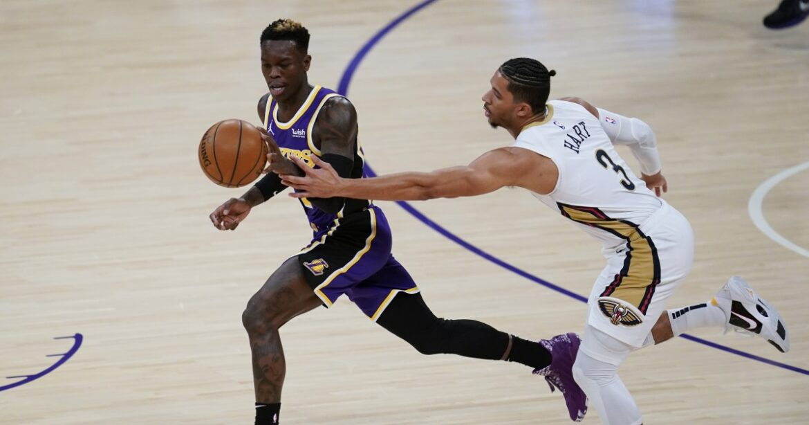 'Dennis the Menace' jolts listless Lakers with smothering defense vs. Pelicans