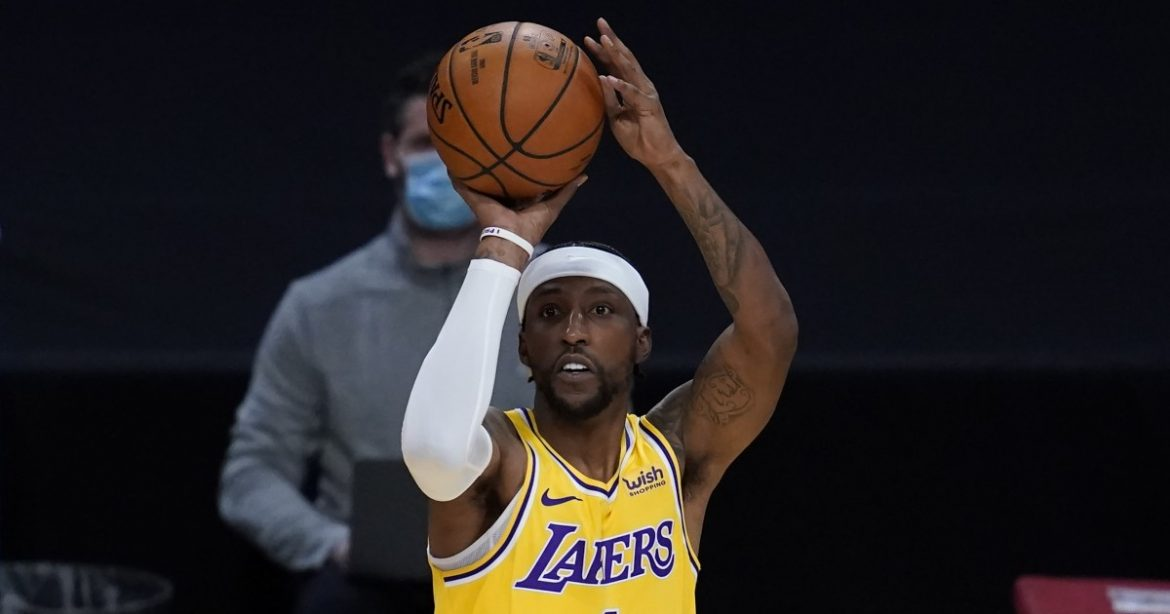 Kentavious Caldwell-Pope developing into Lakers leader even when not on the court