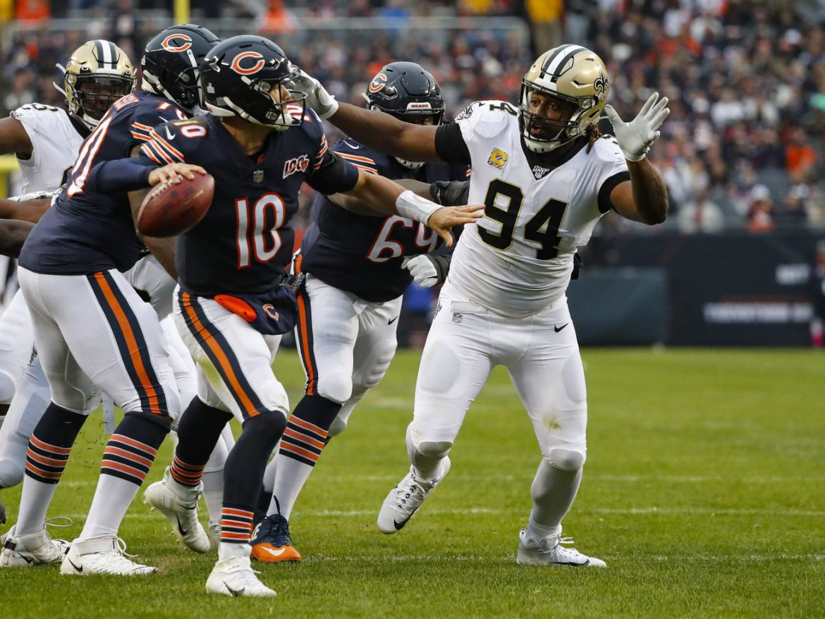 Saints' defense far superior to ones that Bears, Mitch Trubisky beat up in December