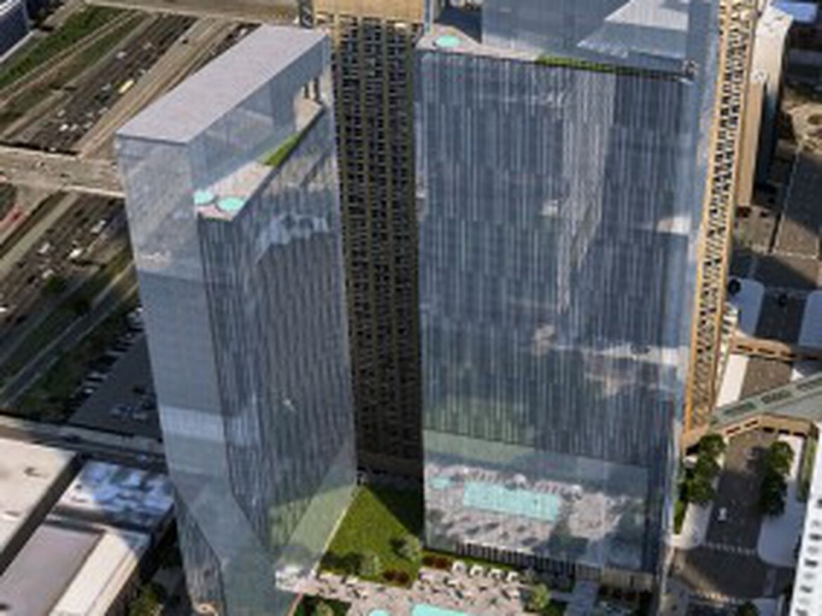 Two-tower proposal pushed for West Loop parking lot