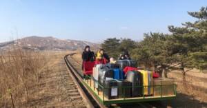 North Korea's borders are closed, but Russia says some of its citizens found a way out by trolley.