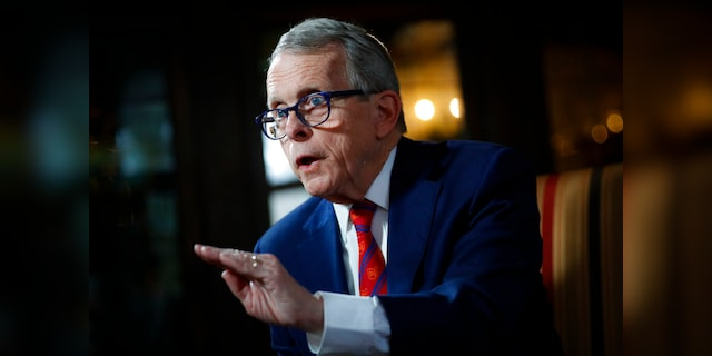 In this Dec. 13, 2019, file photo, Ohio Gov. Mike DeWine speaks during an interview at the Governor's Residence in Columbus, Ohio. DeWine has been facing growing dissatisfaction within his own party. (AP Photo/John Minchillo, File)