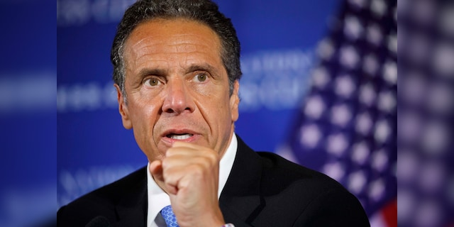 In this May 27, 2020, file photo, New York Gov. Andrew Cuomo speaks during a news conference at the National Press Club in Washington. (AP Photo/Jacquelyn Martin, File)