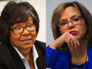 Democratic Party of Illinois chair race down to Michelle Harris, Robin Kelly