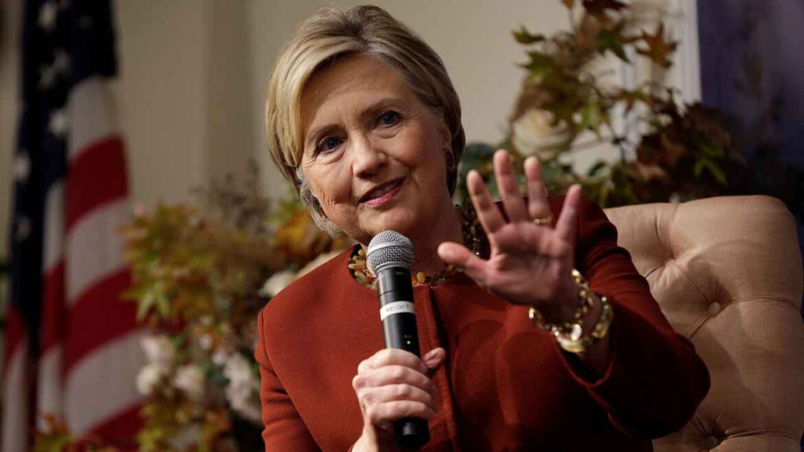 Hillary Clinton co-writing 'international political thriller' with Trump overtones