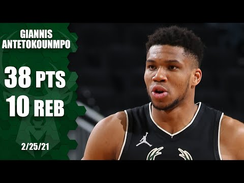 Giannis Antetokoumpo posts dominant 38 points in win vs. Pelicans [HIGHLIGHTS] | NBA on ESPN