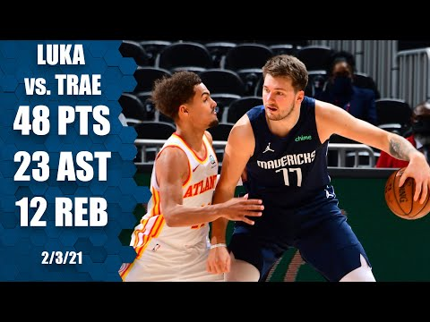 Luka Doncic and Trae Young's first 2021 showdown [HIGHLIGHTS] | NBA on ESPN