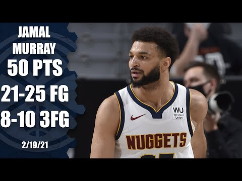 Jamal Murray scores 50 — and misses just four shots! [HIGHLIGHTS] | NBA on ESPN