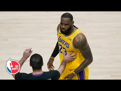 Lakers vs. Hawks features heated moment between LeBron and some fans [HIGHLIGHTS] | NBA on ESPN