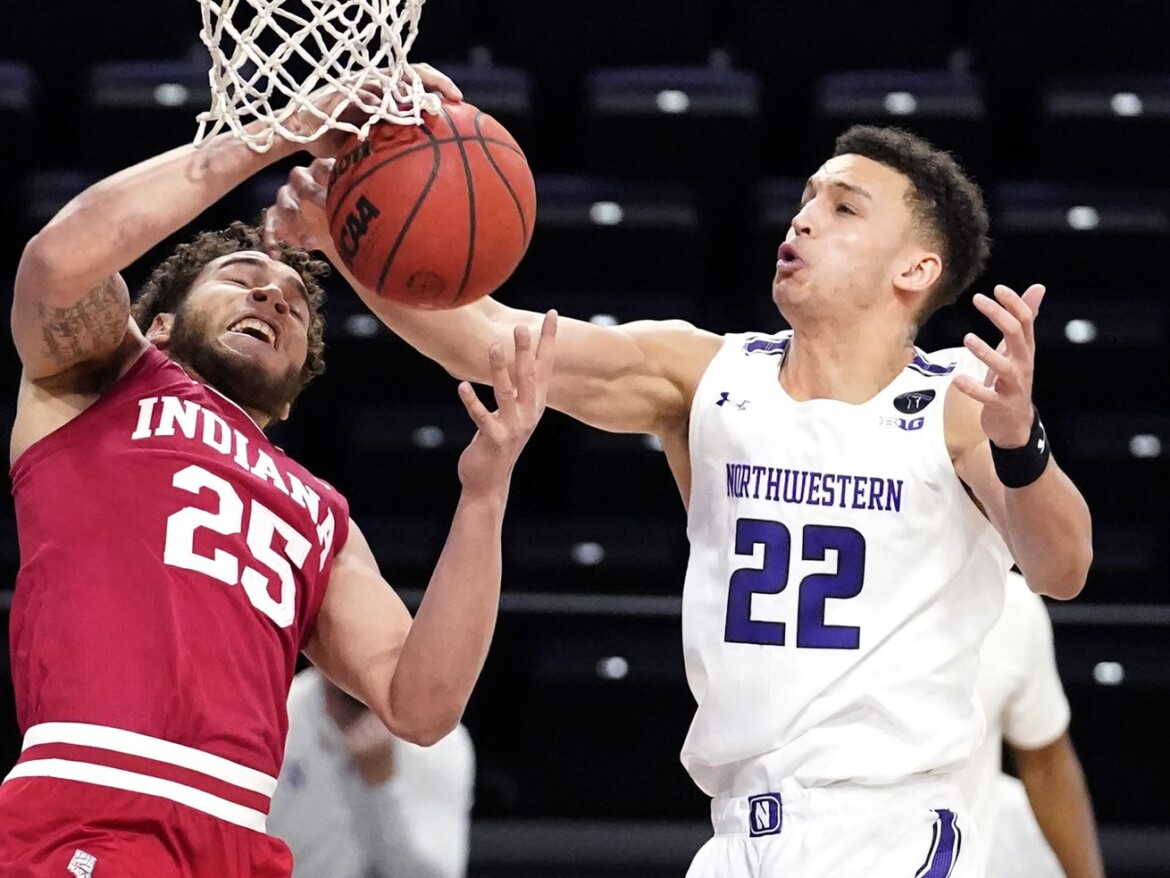 Northwestern drops 10th straight, losing to Indiana 79-76 in 2OT