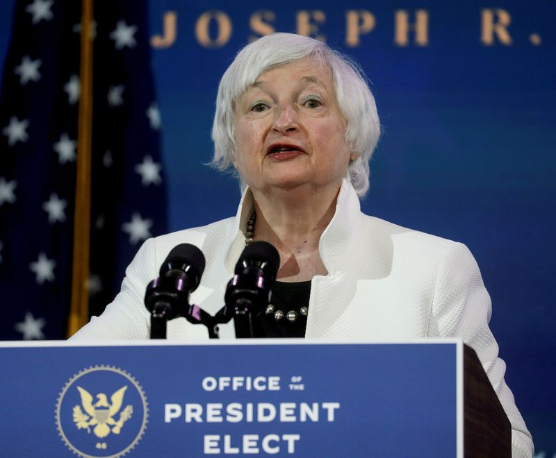 Yellen says tax hike would pay for part of Biden infrastructure bill