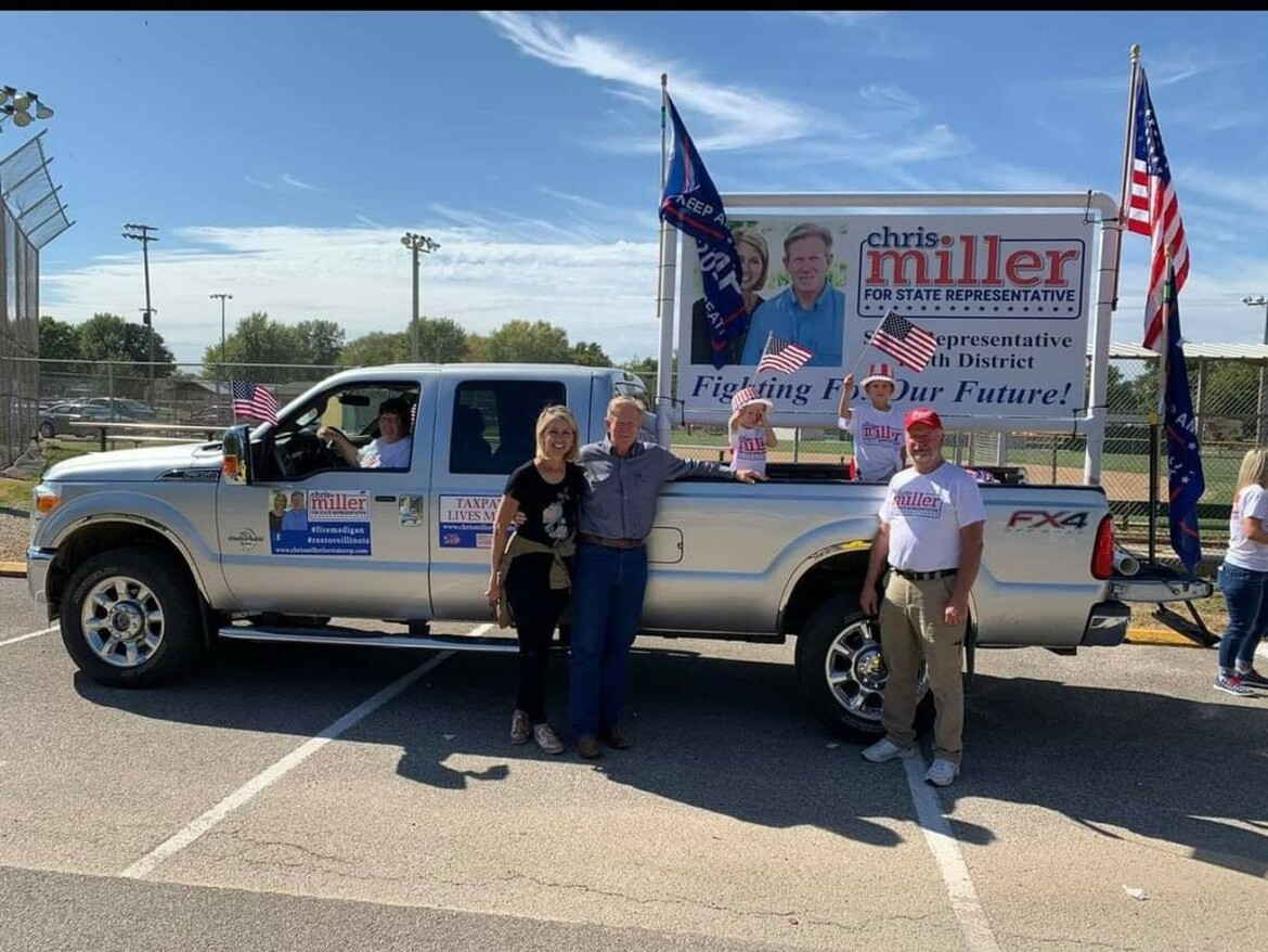 Downstate Republican says he removed far-right militia decal from his truck — but Democrats and Kinzinger call for probe