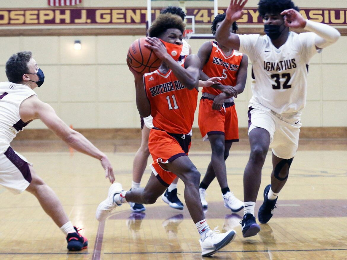Sophomore guard Ahmad Henderson helps balanced Brother Rice beat St. Ignatius in overtime