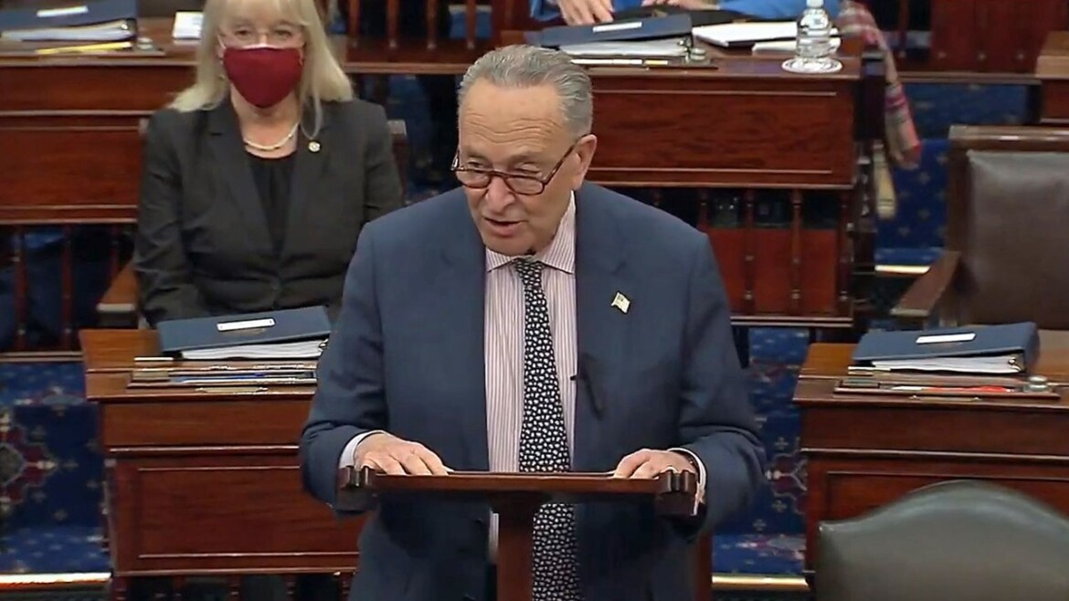 Schumer says Senate 'on track' to send Covid relief to president's desk before March 14