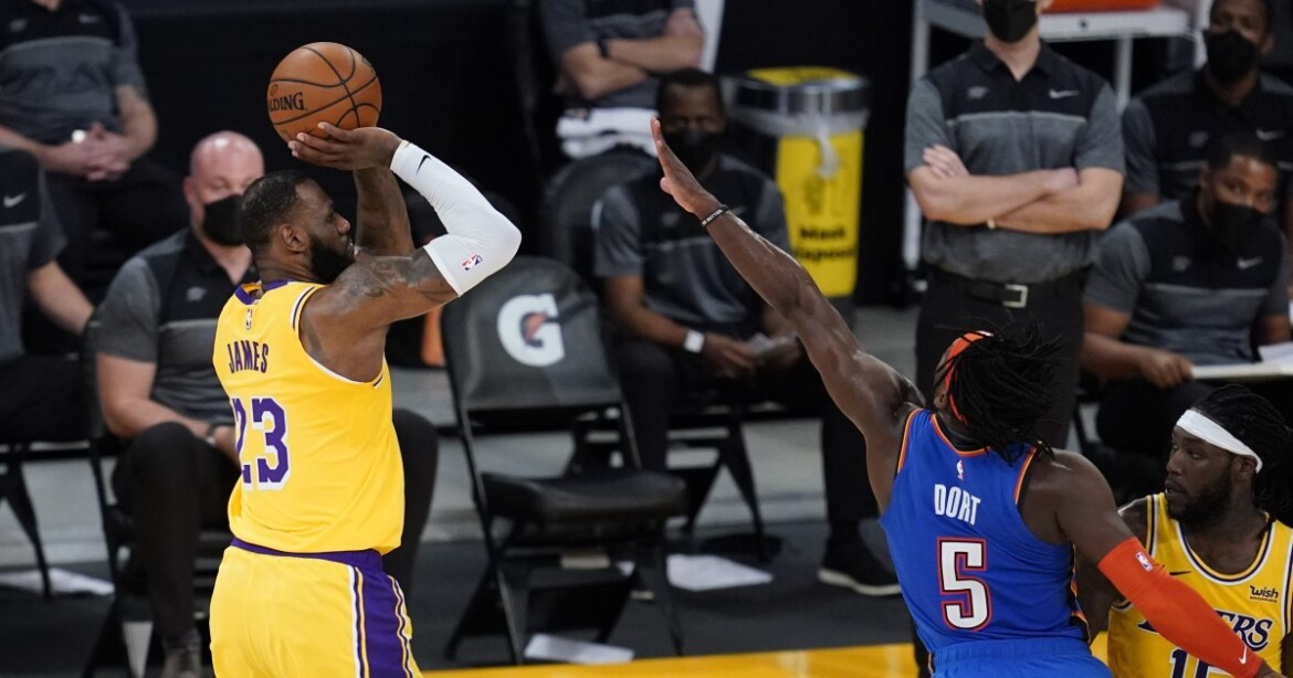 Column: LeBron James is a 40-minute man again in Lakers OT win, but at what cost?