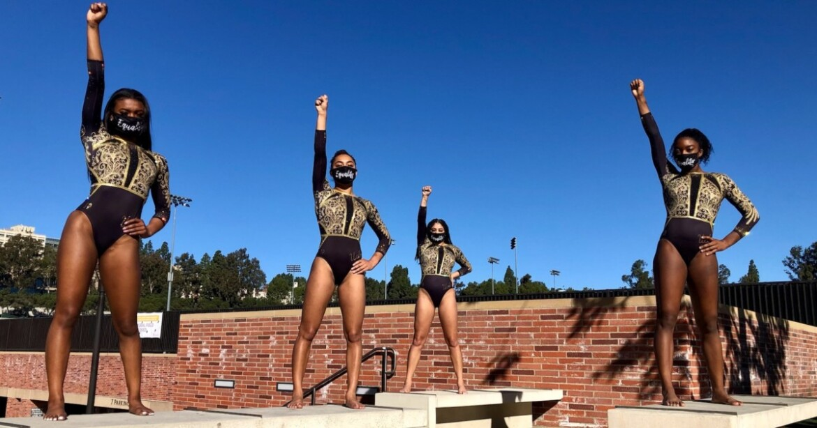 UCLA gymnasts wears Black excellence message on their sleeves