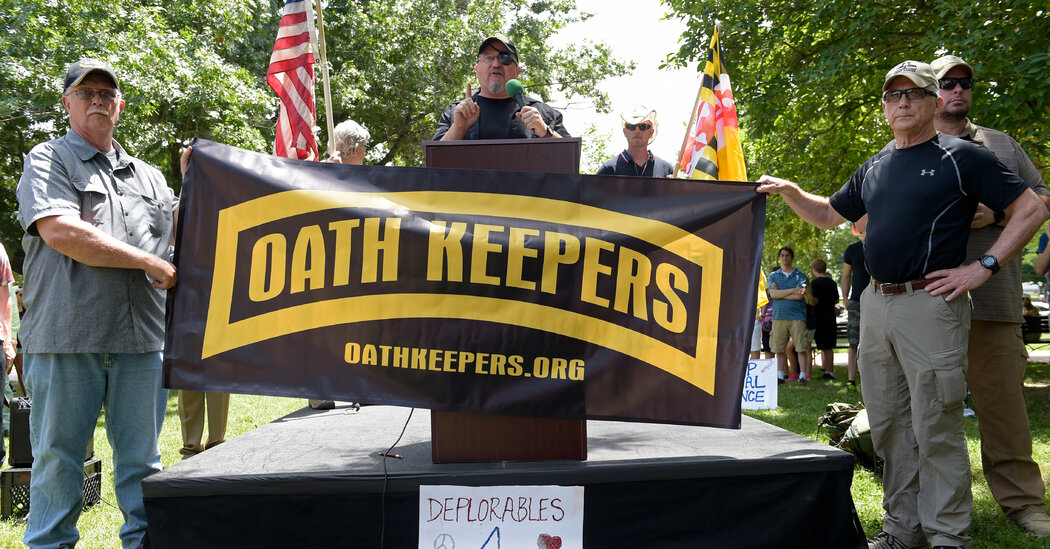 Oath Keepers Founder Is Said to Be Investigated in Capitol Riot