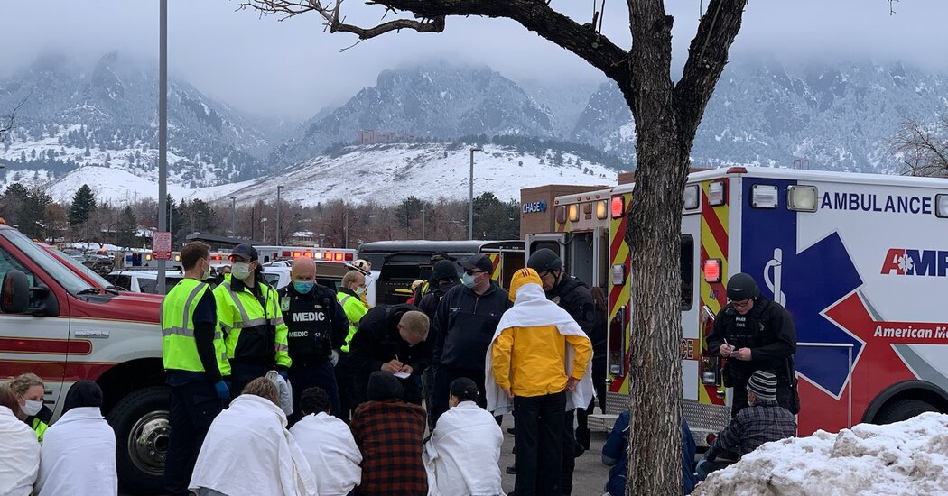 Police Respond to Shooting Reports at Boulder, Colo., Grocery Store