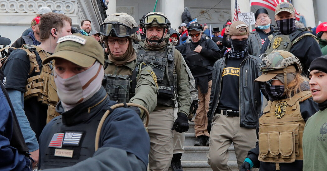 Justice Dept. Said to Be Weighing Sedition Charges Against Oath Keepers