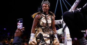 Claressa Shields Pays Tribute to Kobe Bryant With Fight Outfit
