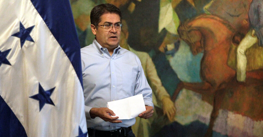 Honduras President Juan Orlando Hernández  Faces Questions in Drug Trial's Wake