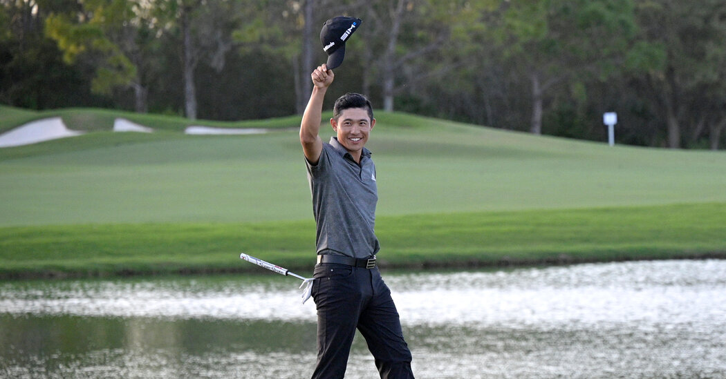 Collin Morikawa Wins Workday Title on a Day of Tributes to Woods