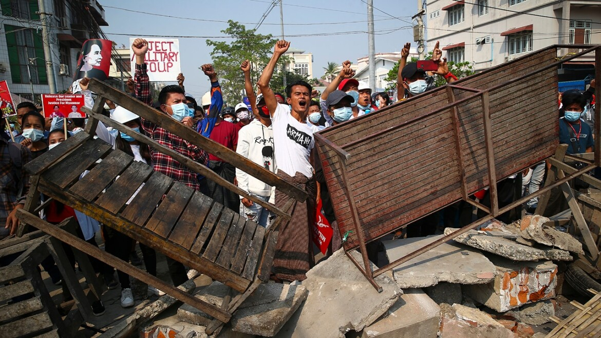 Burma descends into chaos after military coup, at least 18 protesters killed