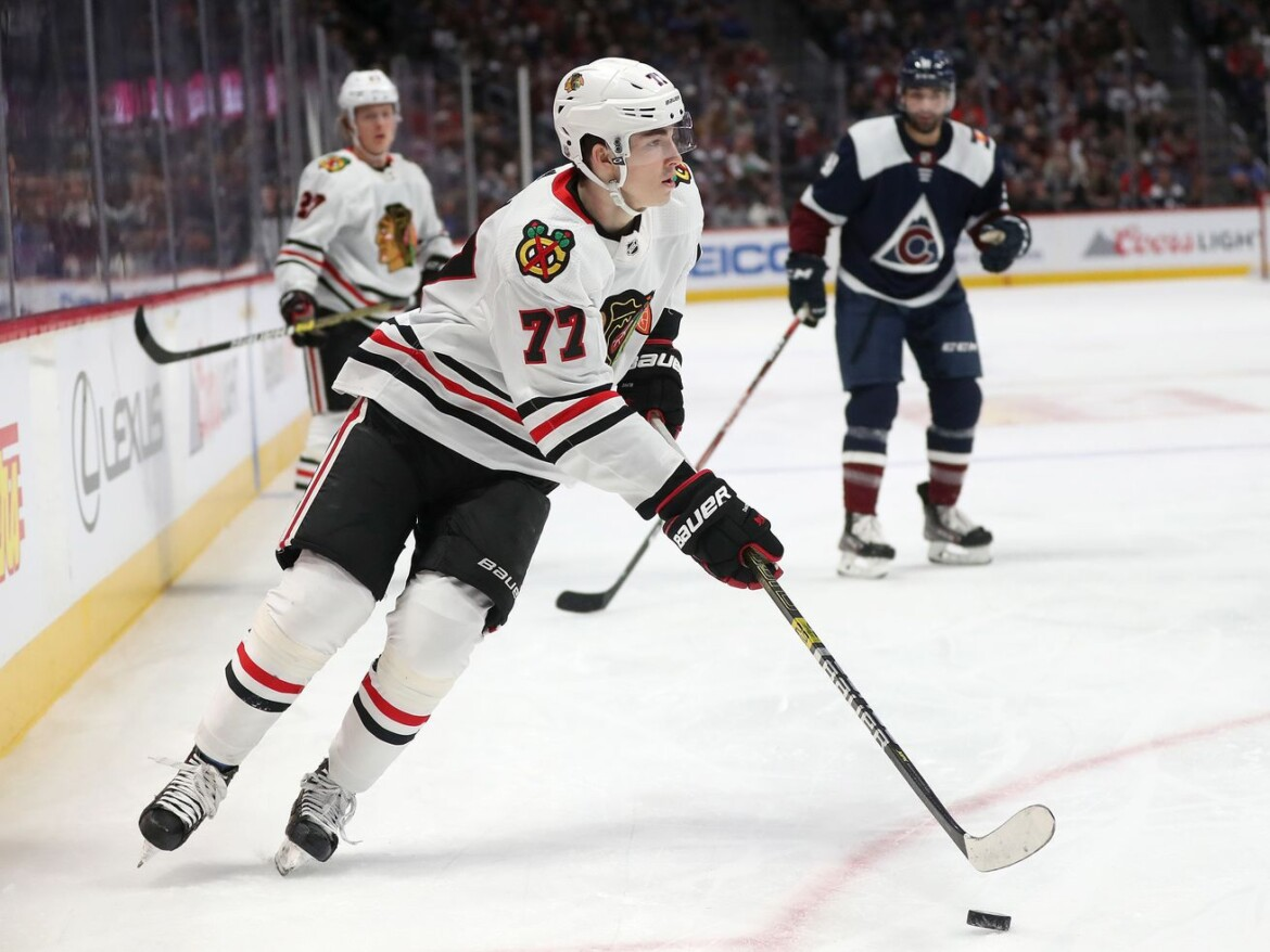 Kirby Dach practices with Blackhawks, taking huge step in recovery from wrist surgery