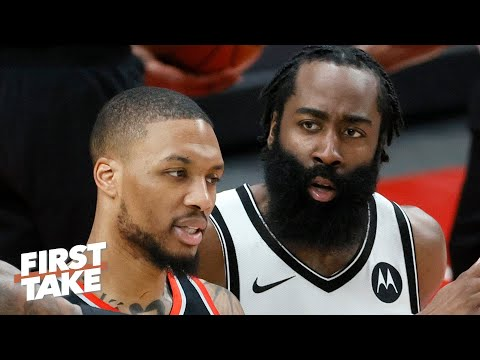 Stephen A. thinks Damian Lillard is on James Harden's heels in the race for MVP | First Take