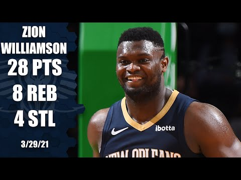 Zion Williamson's 28-point game powers Pelicans past Celtics [HIGHLIGHTS] | NBA on ESPN