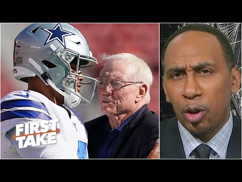 Stephen A. questions why Jerry Jones hasn't made a deal with Dak Prescott | First Take