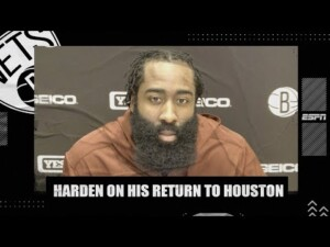 James Harden recaps Nets' win in return to Houston | NBA on ESPN