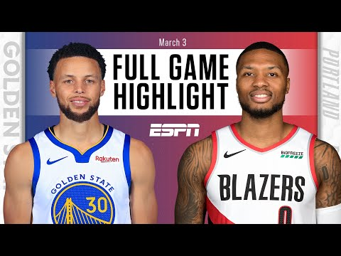 Golden State Warriors vs. Portland Trail Blazers [FULL GAME HIGHLIGHTS] | NBA on ESPN