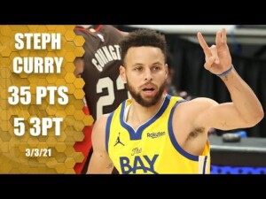 Steph Curry goes off for 35 points in Warriors vs. Trail Blazers [Highlights] | NBA on ESPN
