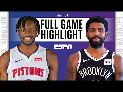 Detroit Pistons vs. Brooklyn Nets [FULL GAME HIGHLIGHTS] | NBA on ESPN
