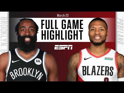 Brooklyn Nets vs. Portland Trail Blazers [FULL GAME HIGHLIGHTS] | NBA on ESPN