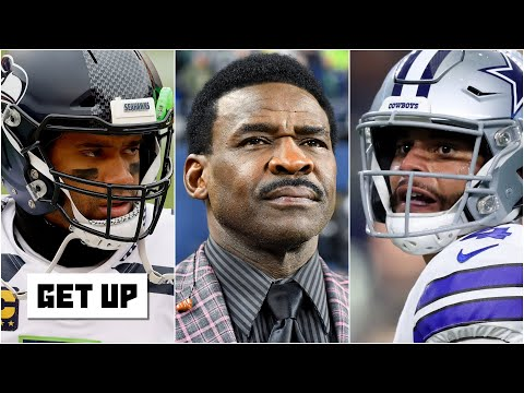 Reacting to Michael Irvin saying 'Russell Wilson wants Dak's chair' | Get Up