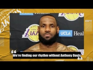 LeBron James sees Lakers getting into rhythm without Anthony Davis in lineup | NBA on ESPN